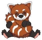 czerwone panda się uśmiecha ilustracji