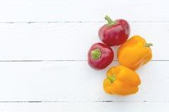 czerwone papryki żółty Fotografia Stock