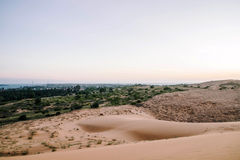 Czerwone piasek diuny przy Muine, Wietnam Zdjęcia Stock