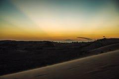 Czerwone piasek diuny przy Muine, Wietnam Obrazy Royalty Free