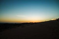 Czerwone piasek diuny przy Muine, Wietnam Obrazy Stock