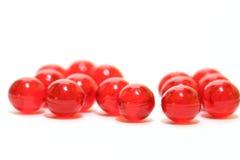 czerwone pigułki obraz stock