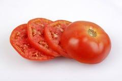 czerwone plastrach roślin pomidora Obrazy Stock