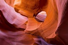 Czerwone Pomarańczowe piaskowcowe fala obraz royalty free