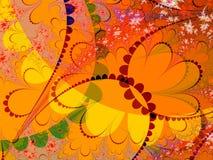 czerwone pomarańczowej kształty Fotografia Royalty Free