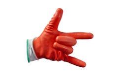 Czerwone prac rękawiczki odizolowywać Obrazy Stock
