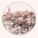 czerwone Prague dachów miasta Royalty Ilustracja