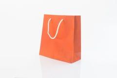 Czerwone prezent torby odizolowywać na białym tle Zdjęcia Stock