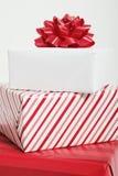 czerwone prezenty Zdjęcie Royalty Free