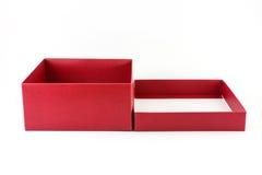 czerwone pudełko otwarta Obrazy Stock