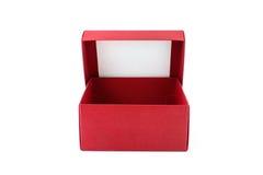 czerwone pudełko otwarta Fotografia Stock