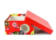 czerwone pudełko otwarta Fotografia Royalty Free