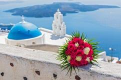 Czerwone róże ślubny bukiet Zdjęcie Royalty Free