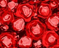 czerwone róże abstrakcyjnych Fotografia Royalty Free