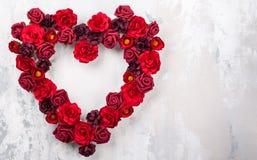 Czerwone róże w kształcie serce Obraz Royalty Free