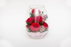 Czerwone róże w próżni Zdjęcia Stock