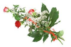 czerwone róże wiązek Obraz Stock