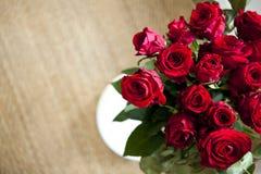 czerwone róże wiązek fotografia royalty free