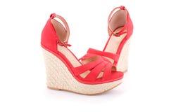 czerwone sandały Fotografia Royalty Free