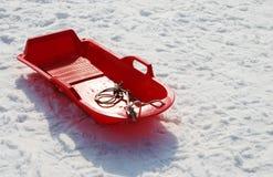czerwone sanki Fotografia Royalty Free