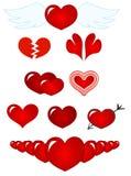 czerwone serce ilustracja wektor