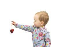 czerwone serce dziecka Zdjęcia Royalty Free