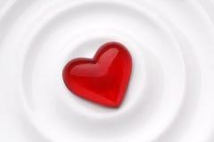 czerwone serce miłości Zdjęcia Stock