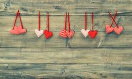 czerwone serce Walentynka dnia tło ilustracyjny lelui czerwieni stylu rocznik Fotografia Royalty Free