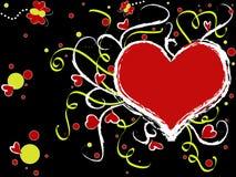 czerwone serce walentynki ilustracja wektor