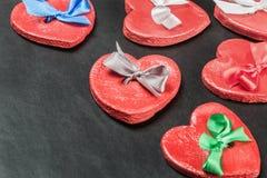 Czerwone serce walentynki Fotografia Stock