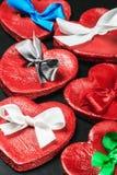 Czerwone serce walentynki Obrazy Royalty Free