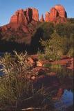 czerwone skały, zmierzch, Arizona zdjęcie stock