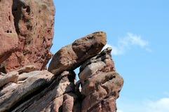 czerwone skały formacji Fotografia Royalty Free