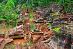 Czerwone skały Zhangjiajie. Obrazy Stock