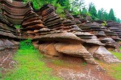 Czerwone skały Zhangjiajie. Obrazy Royalty Free