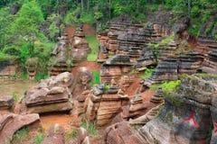 Czerwone skały Zhangjiajie Zdjęcia Stock
