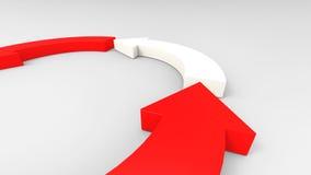 Czerwone strzała na białym tle Fotografia Royalty Free