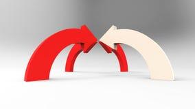 Czerwone strzała na białym tle Obrazy Royalty Free