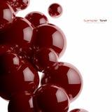 czerwone tło abstrakcjonistyczne piłki Zdjęcia Royalty Free