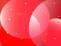 czerwone tło kształty Fotografia Royalty Free