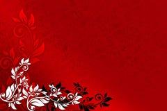 czerwone tło kwiecista royalty ilustracja