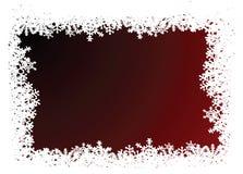 czerwone tło płatek śniegu Obraz Stock