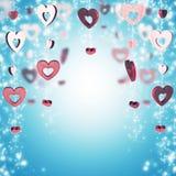czerwone tło serca zdjęcie stock