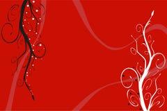 czerwone tło kwiecista ilustracja wektor