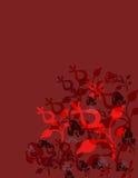 czerwone tło kwiecista Zdjęcia Stock