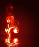 czerwone tło rozjarzona Royalty Ilustracja
