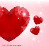 czerwone tło serca Obrazy Stock