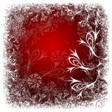 czerwone tło zimy. obrazy stock