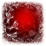 czerwone tło zimy. Zdjęcia Stock