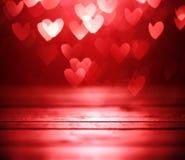 czerwone tło serca Fotografia Stock
